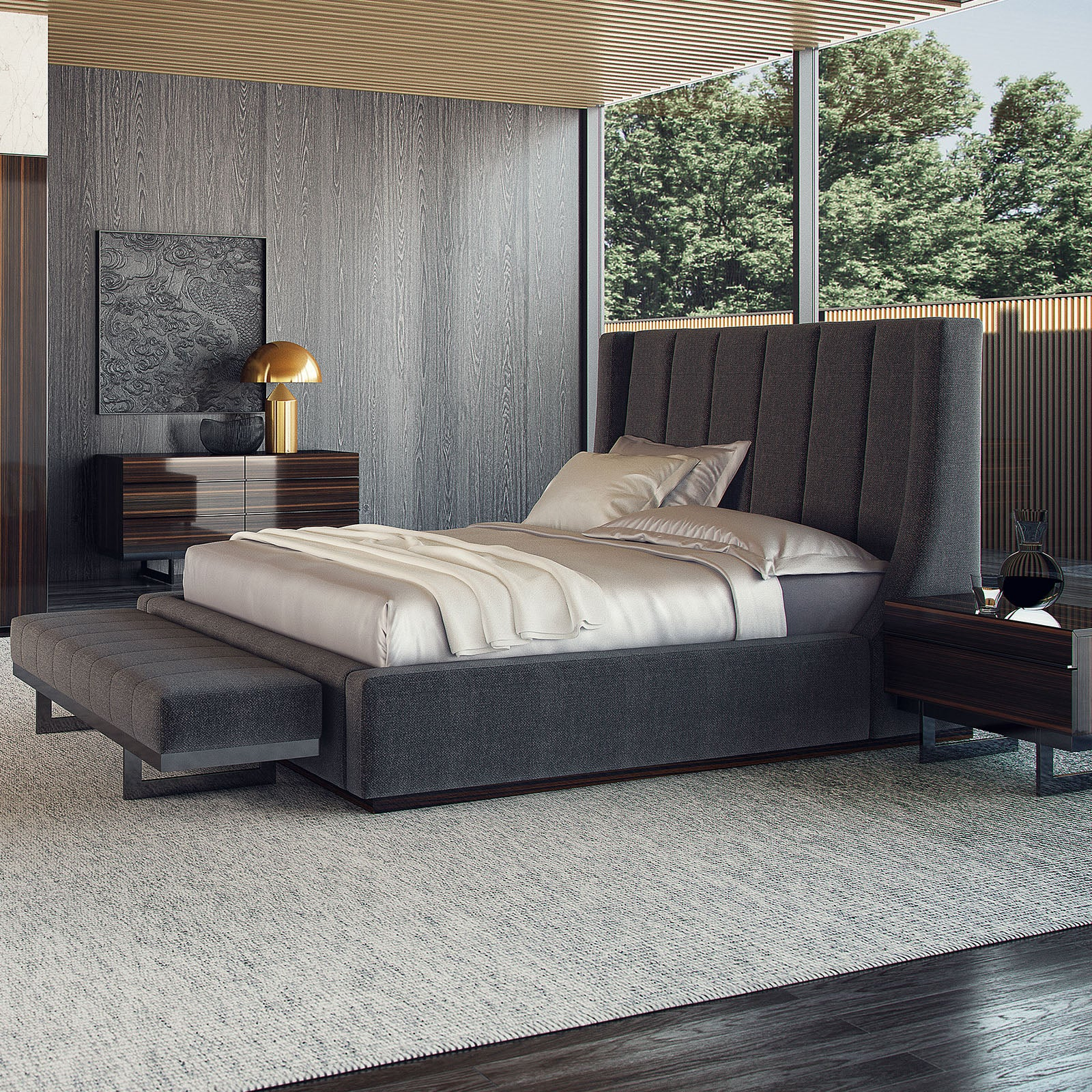 Prada Elegant  Bedroom with bench  ELEGANT003