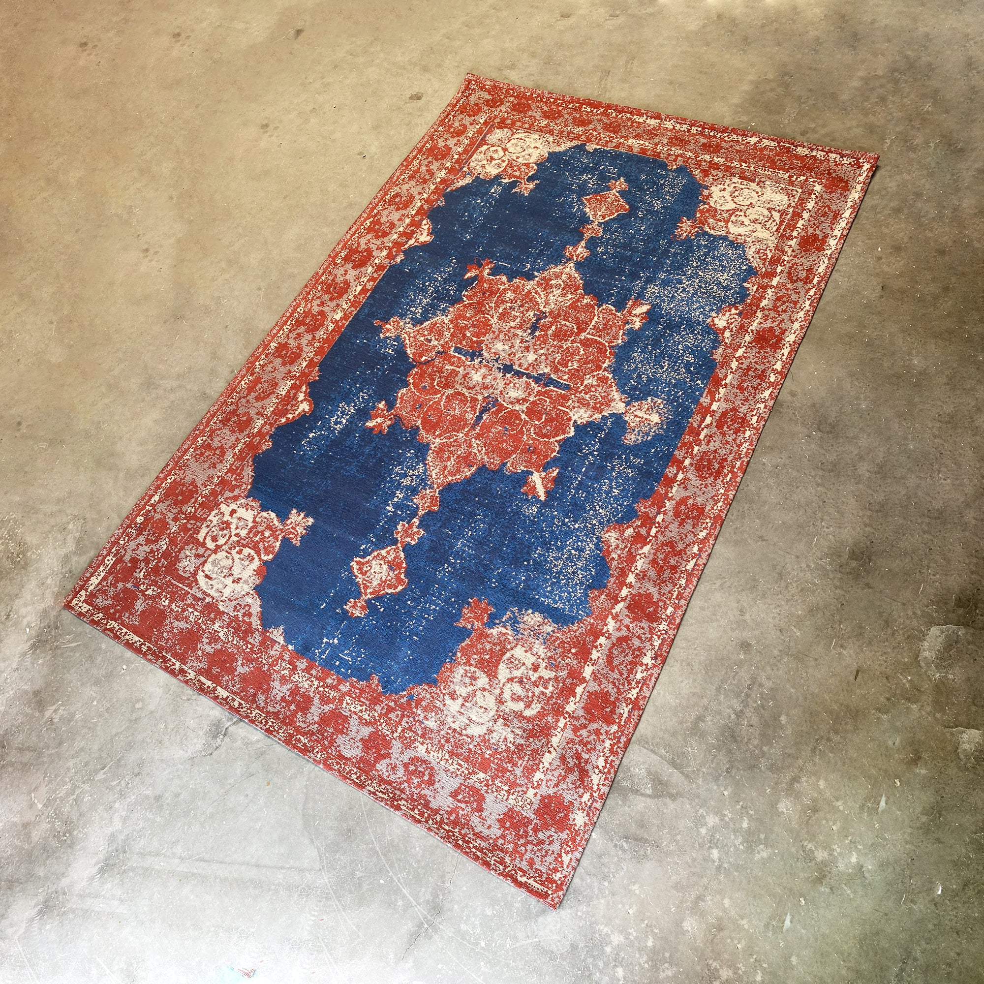 230X160 cm  handmade Rug Melenia-MX-163-indigo rust  L -  230X160 سم سجادة ميلينيا صناعة يدوية - Shop Online Furniture and Home Decor Store in Dubai, UAE at ebarza
