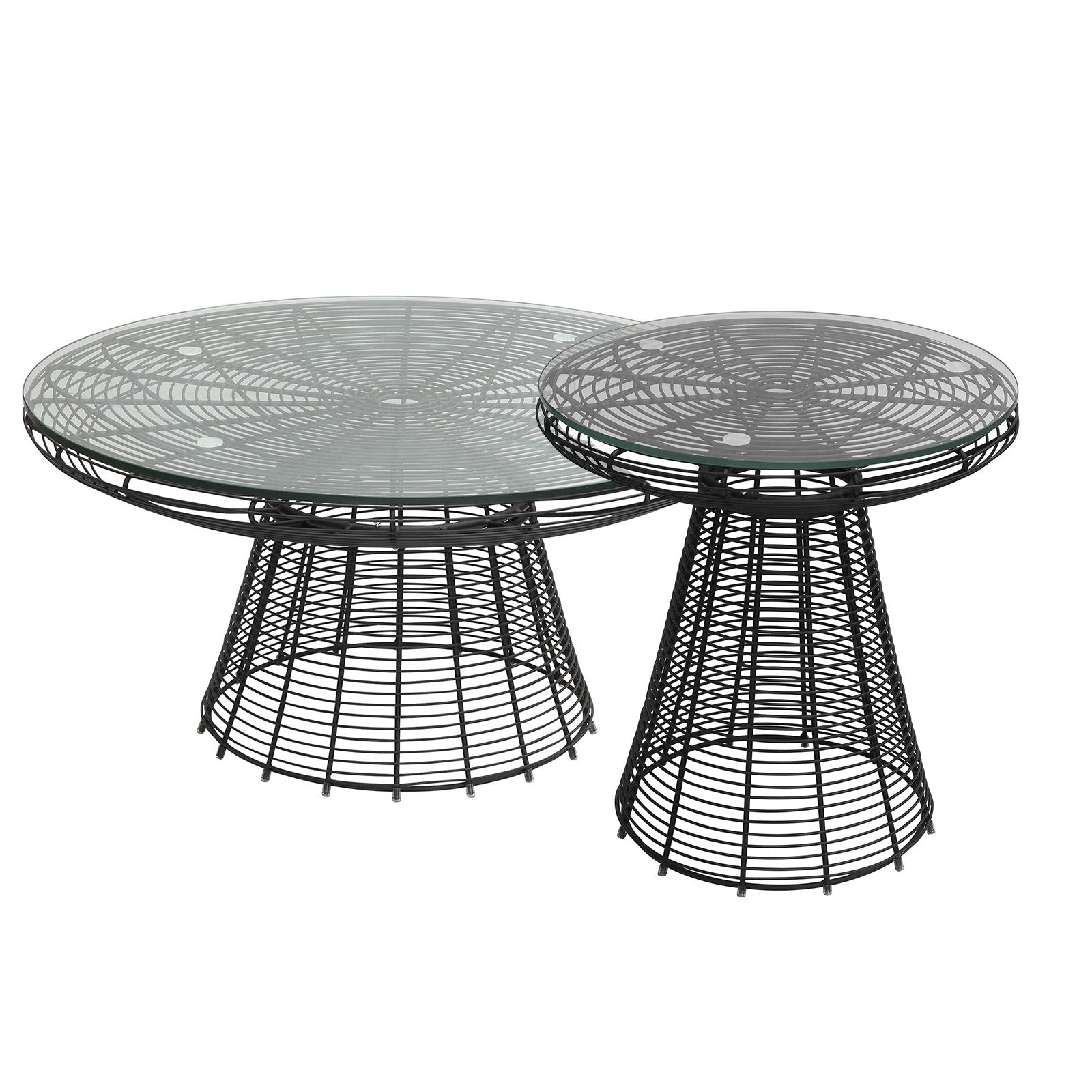 Wire table& glass top  BP8081-B - ebarza