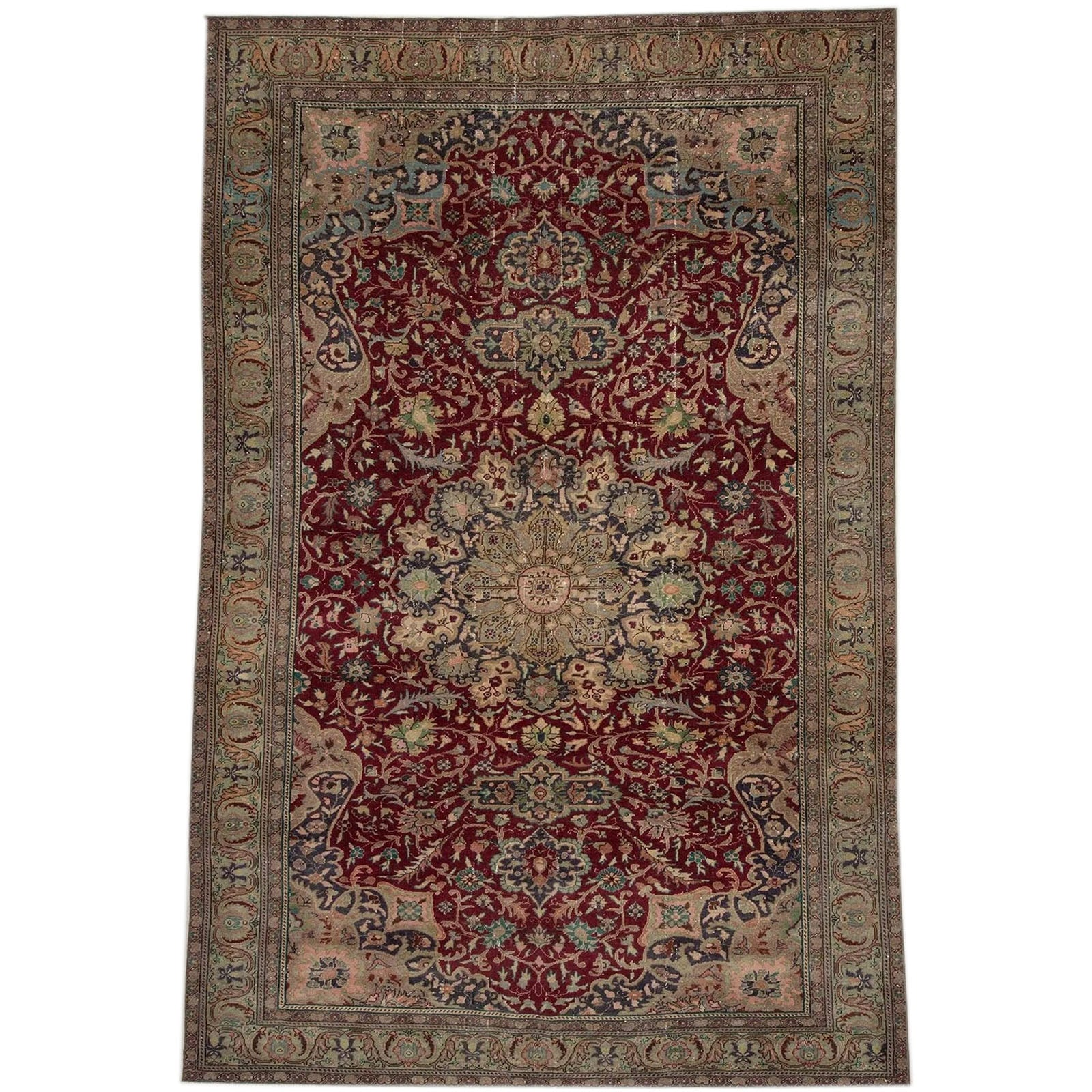 Hali 188X288  CM Bursa Handmade over dyed rug  2528 -  188*288 سجاده بورصة صناعة يدوية على بساط مصبوغ - Shop Online Furniture and Home Decor Store in Dubai, UAE at ebarza
