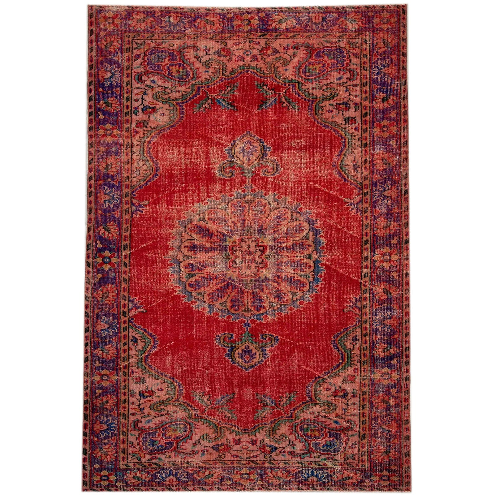 Hali 186X278  CM Bursa Handmade over dyed rug  2591 -  186*278 سجاده بورصة صناعة يدوية على بساط مصبوغ - Shop Online Furniture and Home Decor Store in Dubai, UAE at ebarza