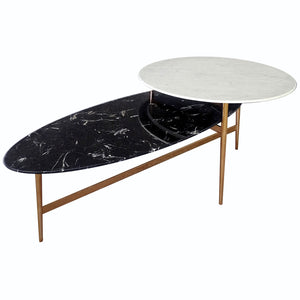 Twin Natural marble table  243CT-W 243CT-B