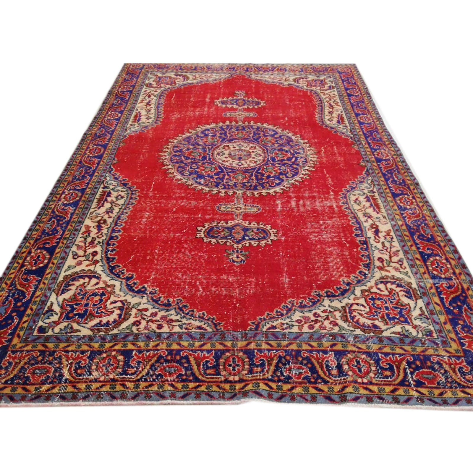Hali 207X310  CM Bursa Handmade over dyed rug 3036 -  207*310 سجاده بورصة صناعة يدوية على بساط مصبوغ - Shop Online Furniture and Home Decor Store in Dubai, UAE at ebarza