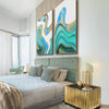 Pre-Order 30 days Delivery set of 2  Handpainted Art Painting with  frame SO898 180X130