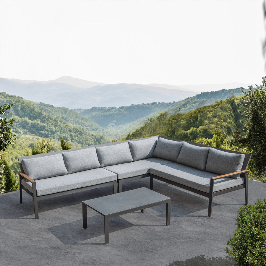 Pre-Order 40 days delivery  corner  Outdoor sofa set Polaris-CS