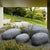 Set of 4 outdoor/indoor Fiberglass concrete decorative rocks/ stool  XK-5013A+B+C+D -  مجموعة من 4 صخور زخرفية من الألياف الزجاجية الخارجية / الداخلية / مقعد - Shop Online Furniture and Home Decor Store in Dubai, UAE at ebarza