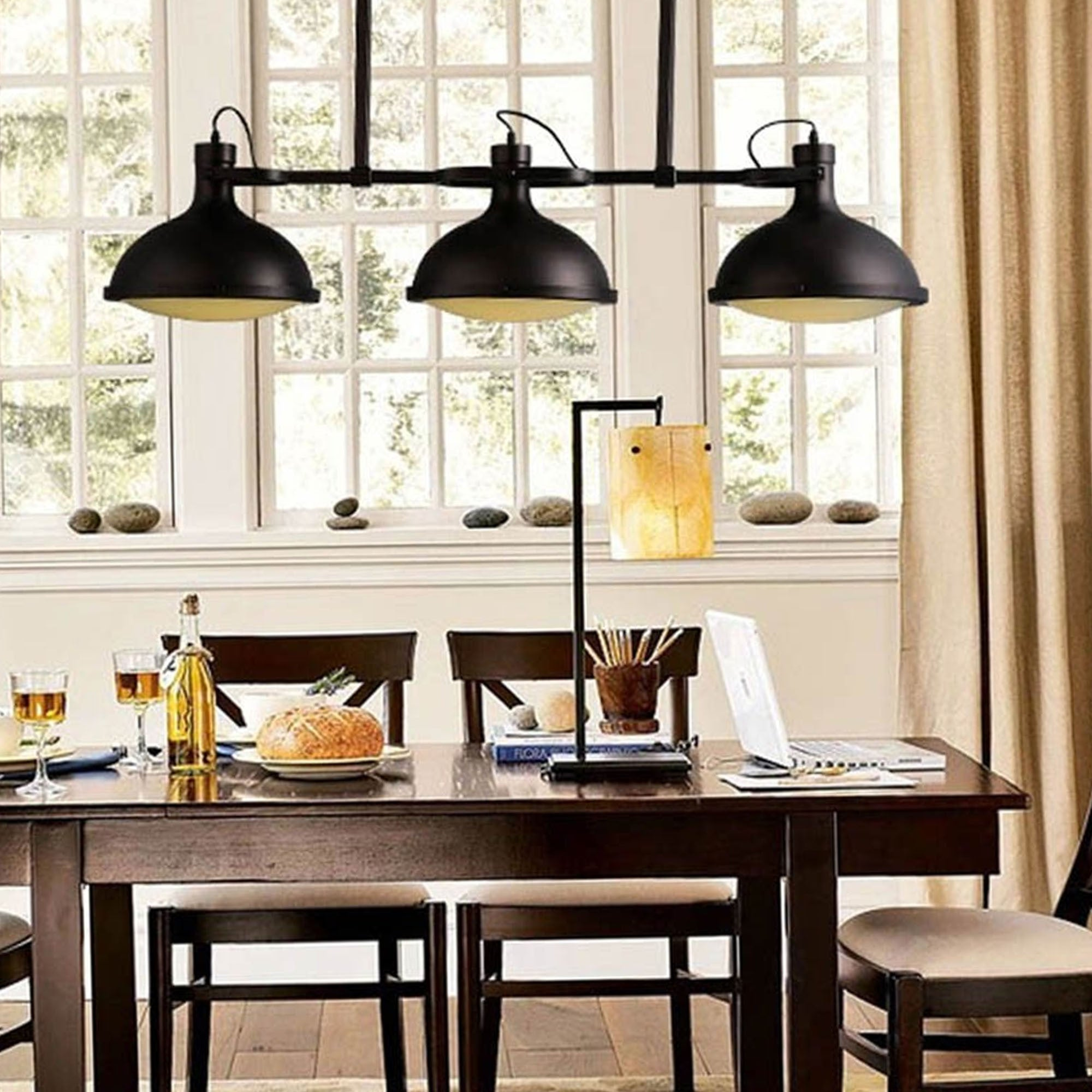 3 Heads Pendant Light Nordic Black CY-DD-118 -  3 رؤوس اناره معلقه - Shop Online Furniture and Home Decor Store in Dubai, UAE at ebarza