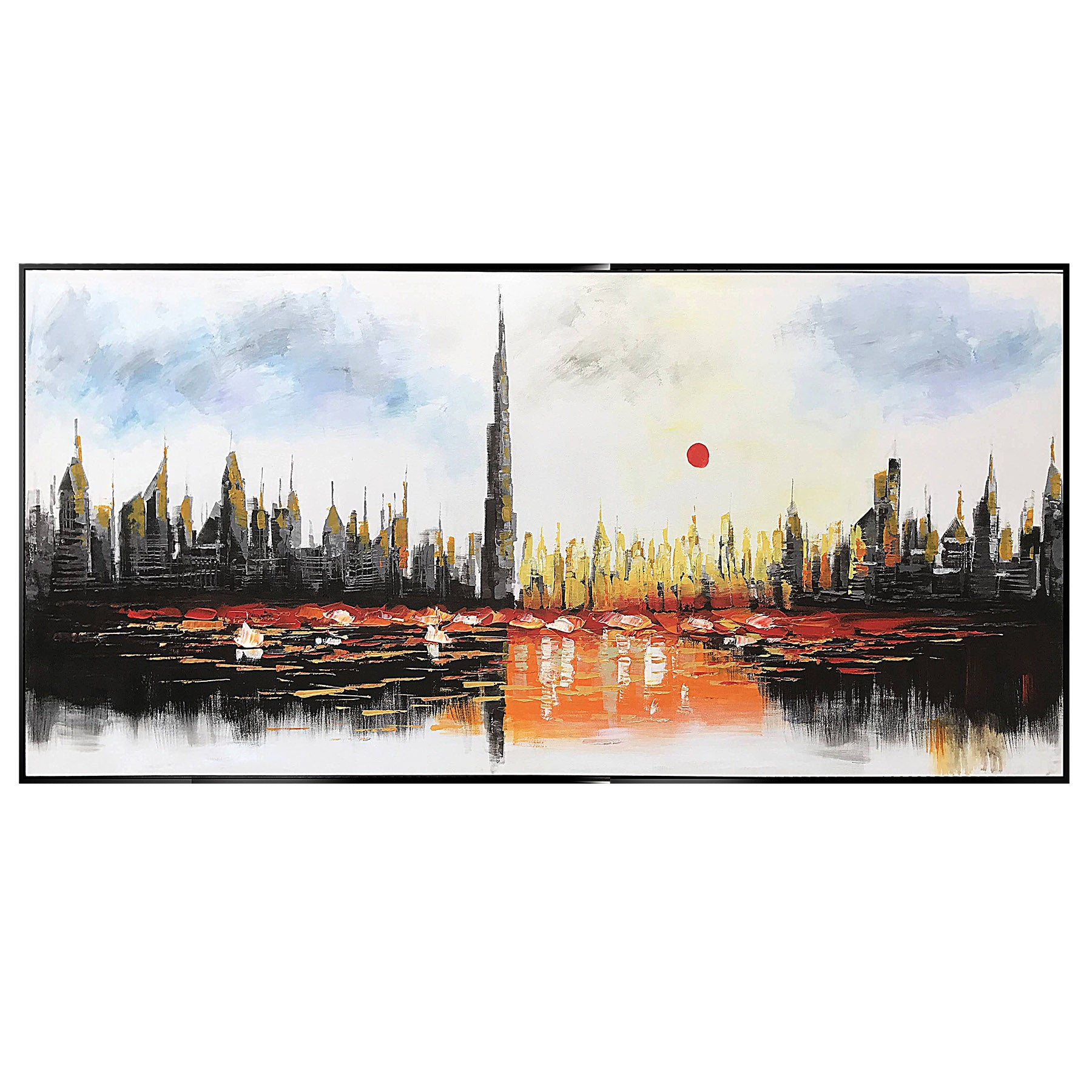 Handpainted Art Painting with Frame 200x90cm PNB115 SOAP0067