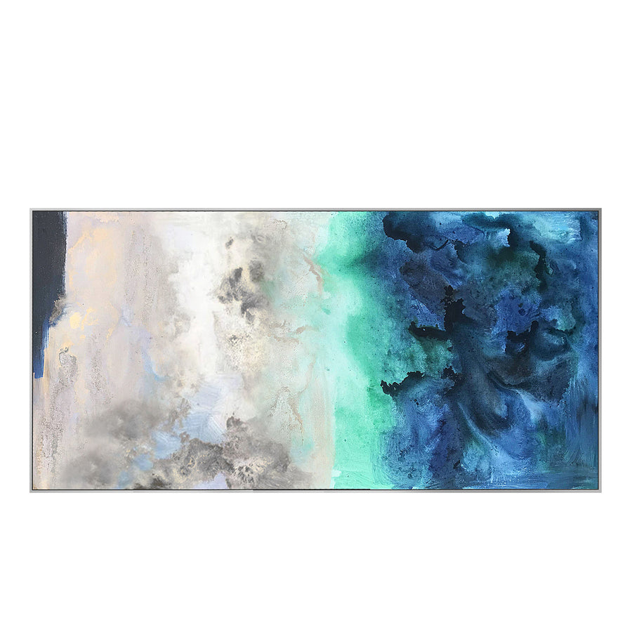 Handpainted Art Painting with  frame SO951 160X80 SOAP0059-Silver  B00111-S