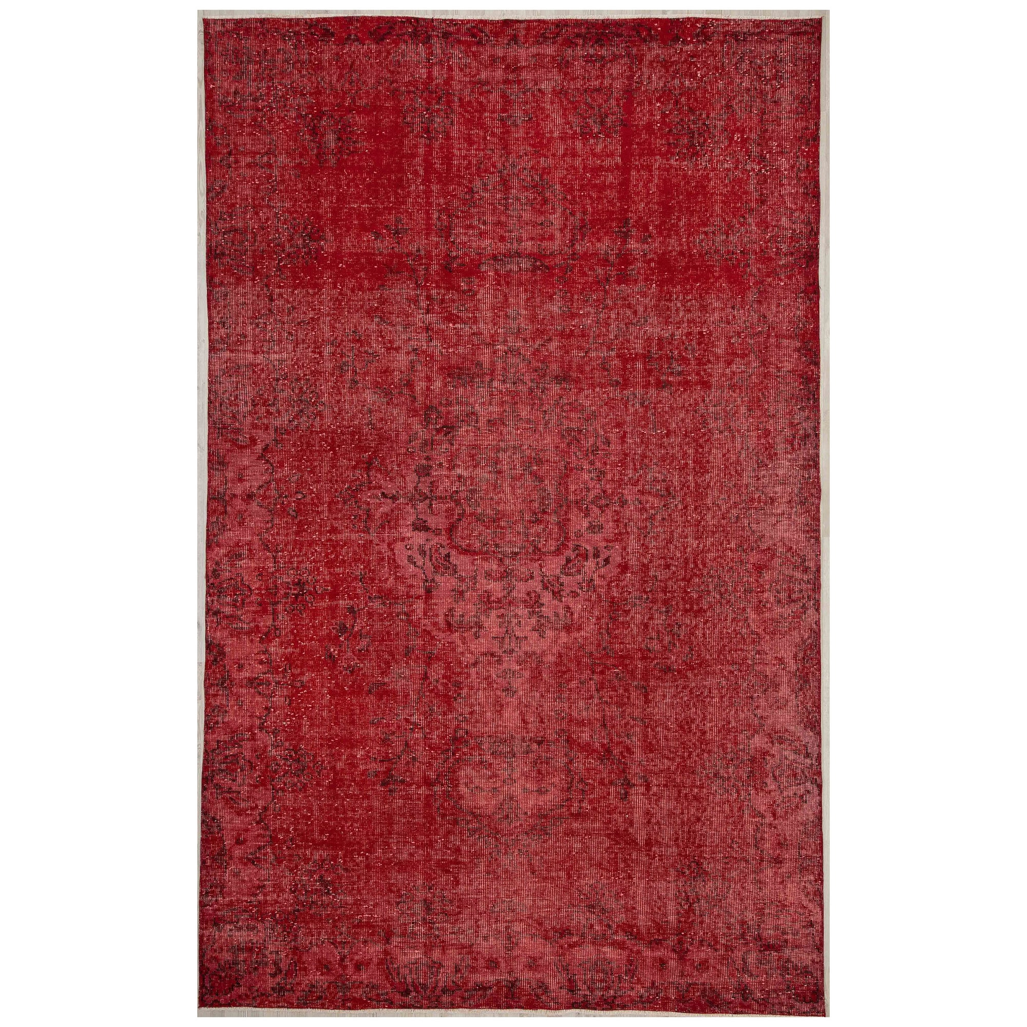 176 X 283 Anatolian Hand Knotted Carpet Vintage Style 60N2558 - ebarza