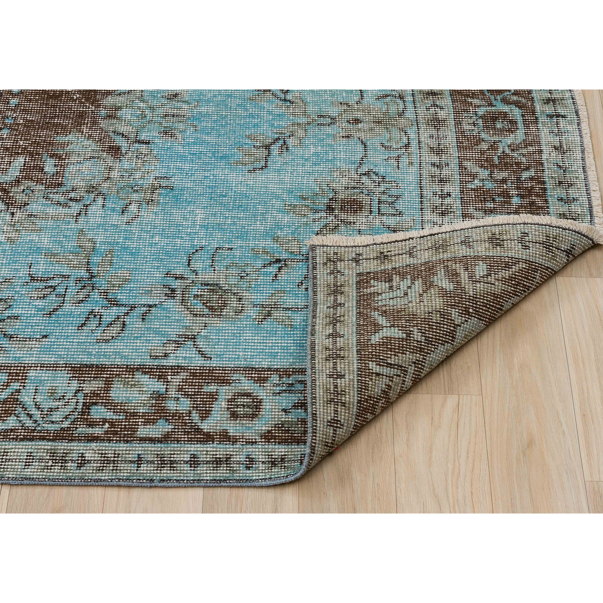 117 X 209 Anatolian Hand Knotted Carpet Vintage Style 60N2693 -  117 × 209 سجادة أناضولية معقودة يدويًا - Shop Online Furniture and Home Decor Store in Dubai, UAE at ebarza