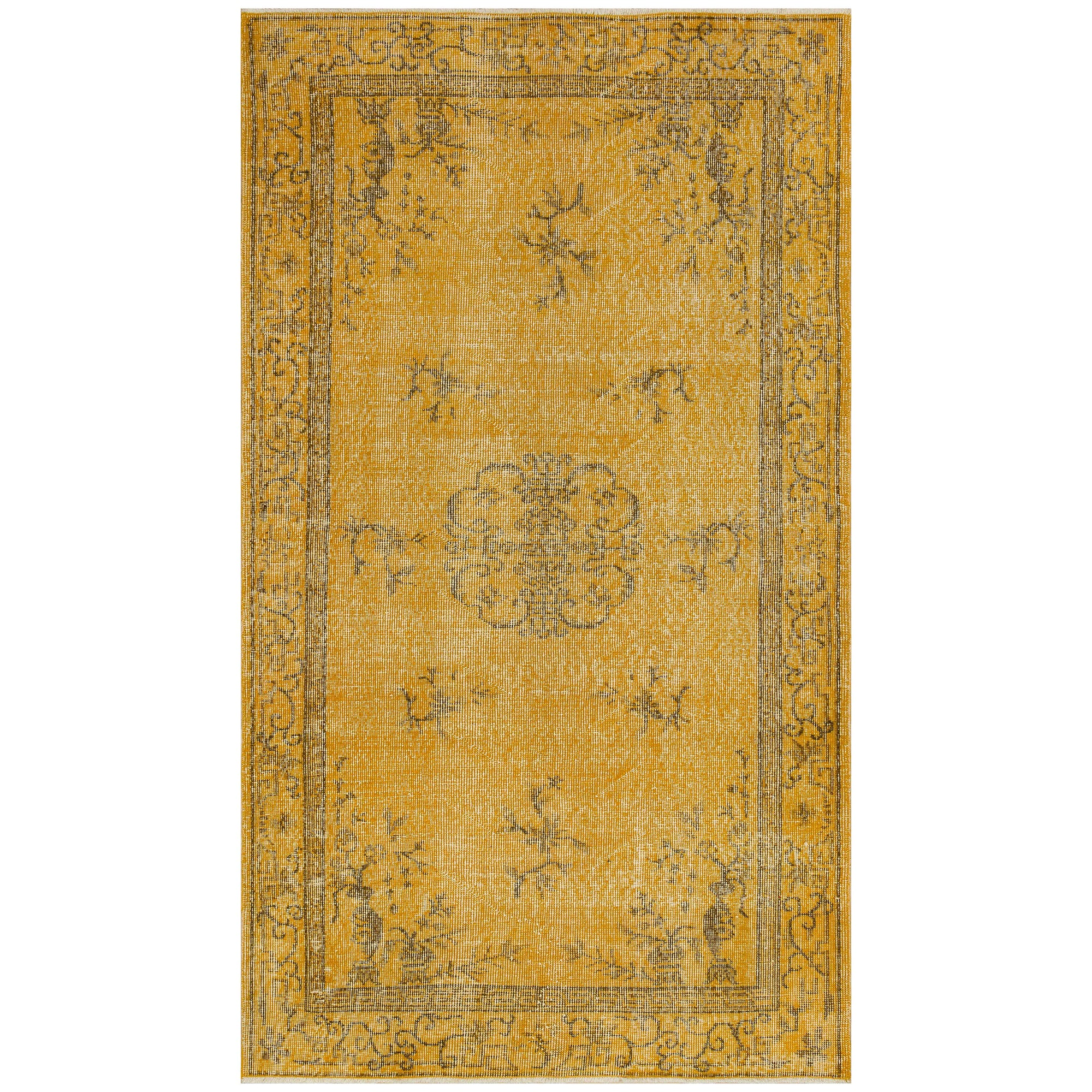 114 X 202 Anatolian Hand Knotted Carpet Vintage Style 60N2695 -  114 × 202 سجادة أناضولية معقودة يدويًا - Shop Online Furniture and Home Decor Store in Dubai, UAE at ebarza