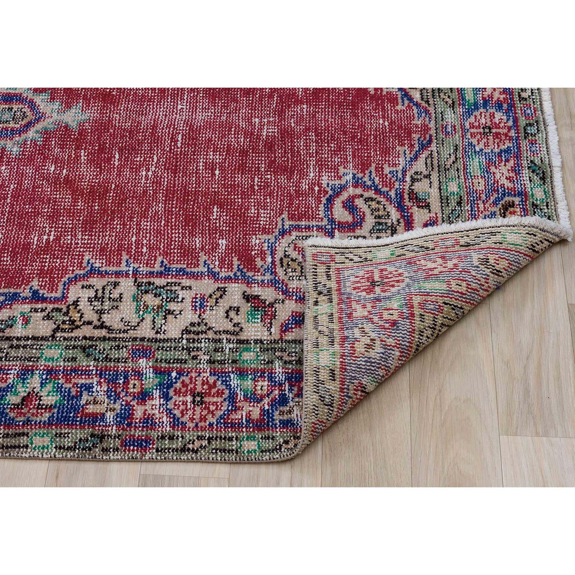 114 X 199 Anatolian Hand Knotted Carpet Vintage Style 60N2698 -  114 × 199 سجادة أناضولية معقودة يدويًا - Shop Online Furniture and Home Decor Store in Dubai, UAE at ebarza