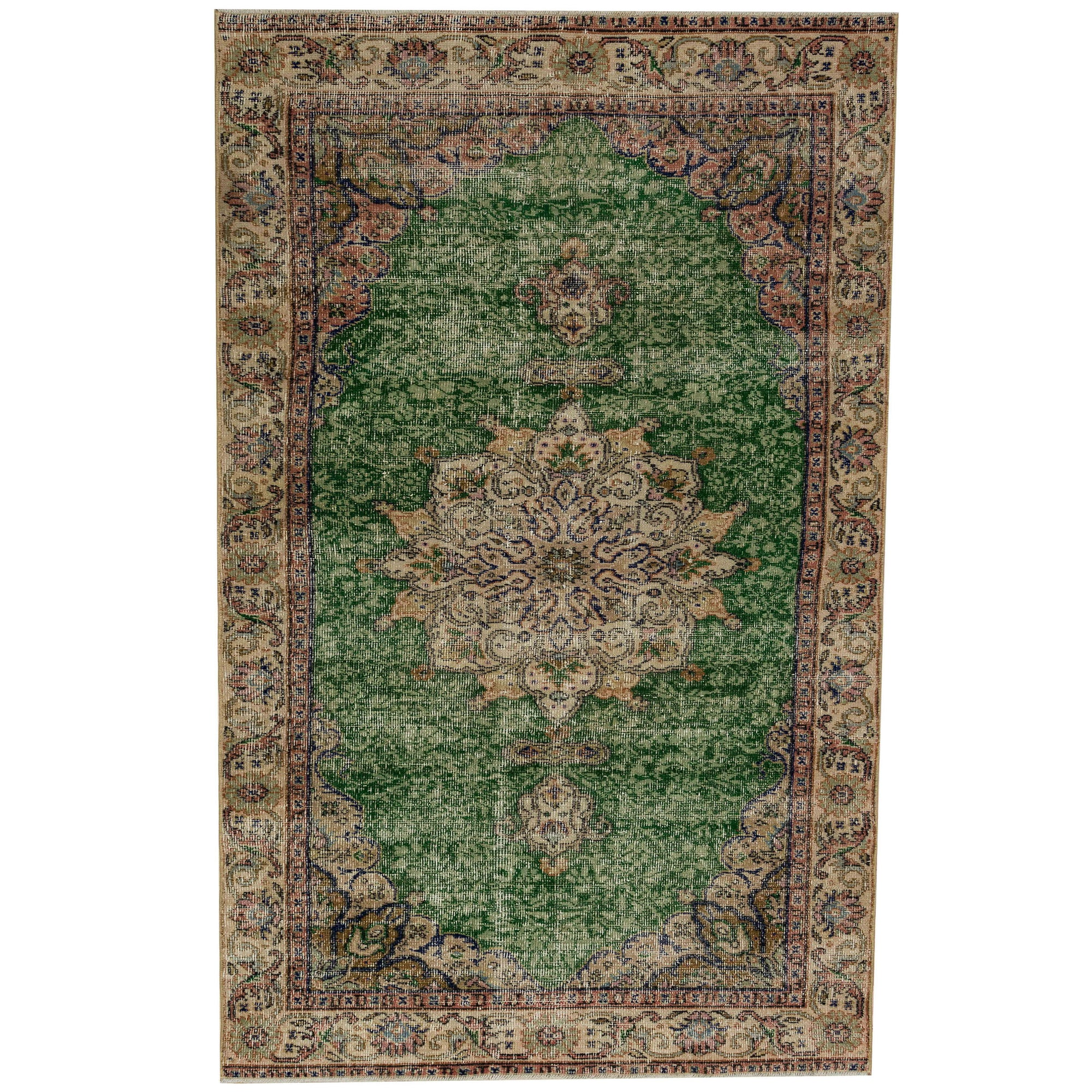 110 X 307 Anatolian Hand Knotted Carpet Vintage Style 60N2710 -  110 × 307 سجادة أناضولية معقودة يدويًا - Shop Online Furniture and Home Decor Store in Dubai, UAE at ebarza