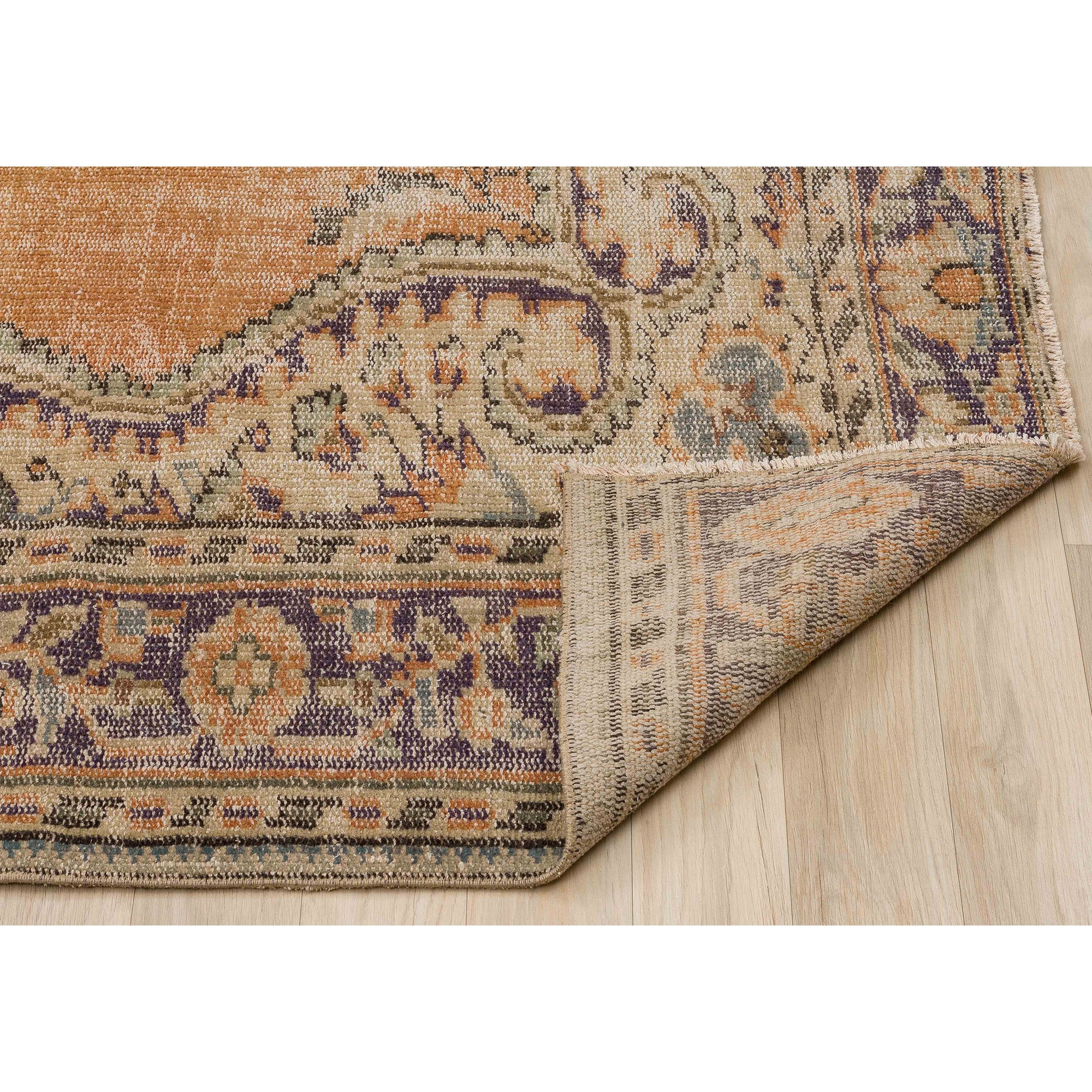 190 X 280 Anatolian Hand Knotted Carpet Vintage Style 60N2744 -  190 × 280 سجادة أناضولية معقودة يدويًا - Shop Online Furniture and Home Decor Store in Dubai, UAE at ebarza