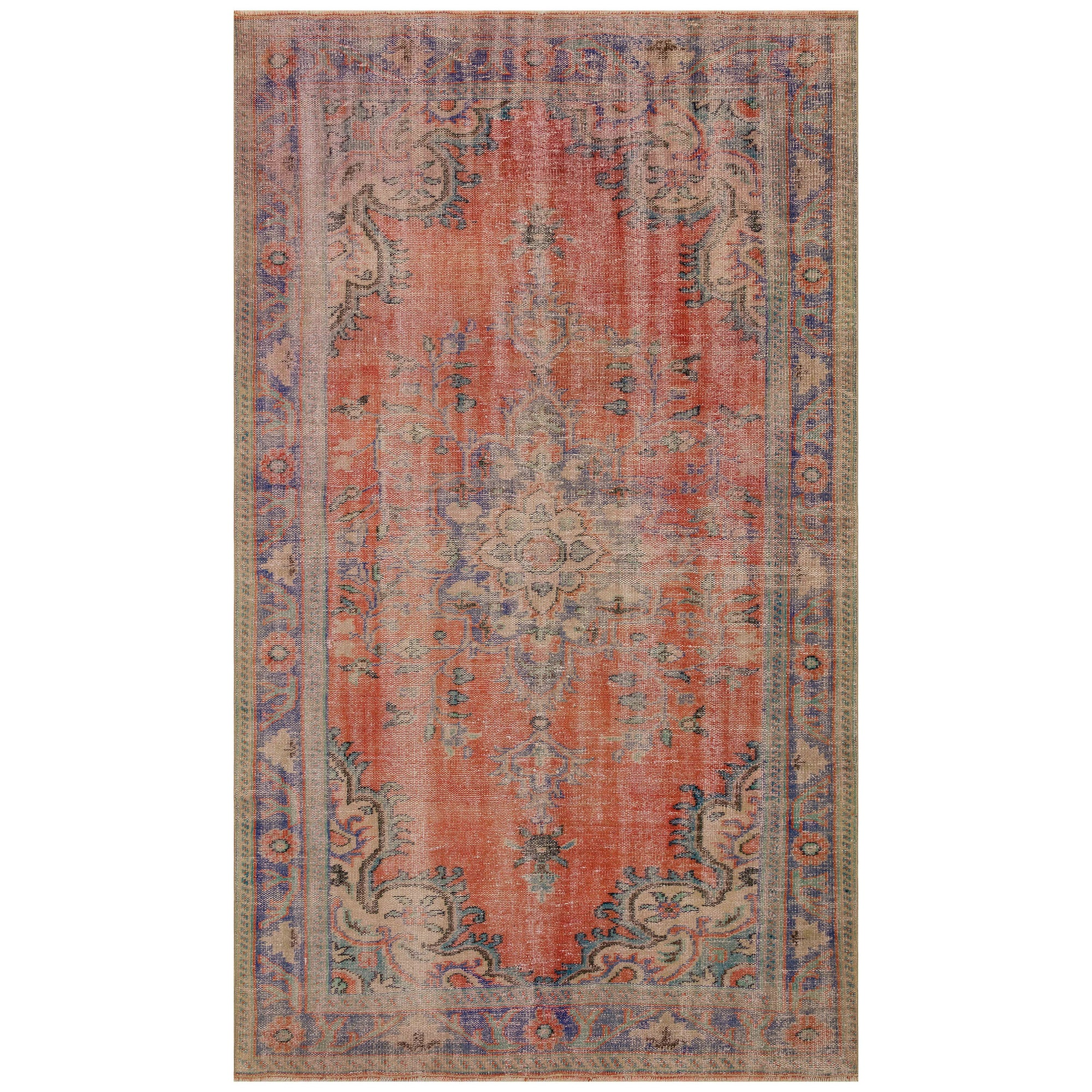 170 X 287 Anatolian Hand Knotted Carpet Vintage Style 60N2761 -  170 × 287 سجادة أناضولية معقودة يدويًا - Shop Online Furniture and Home Decor Store in Dubai, UAE at ebarza
