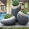 Set of 3 outdoor/indoor Fiberglass concrete Planter box XK-5010A+B+C