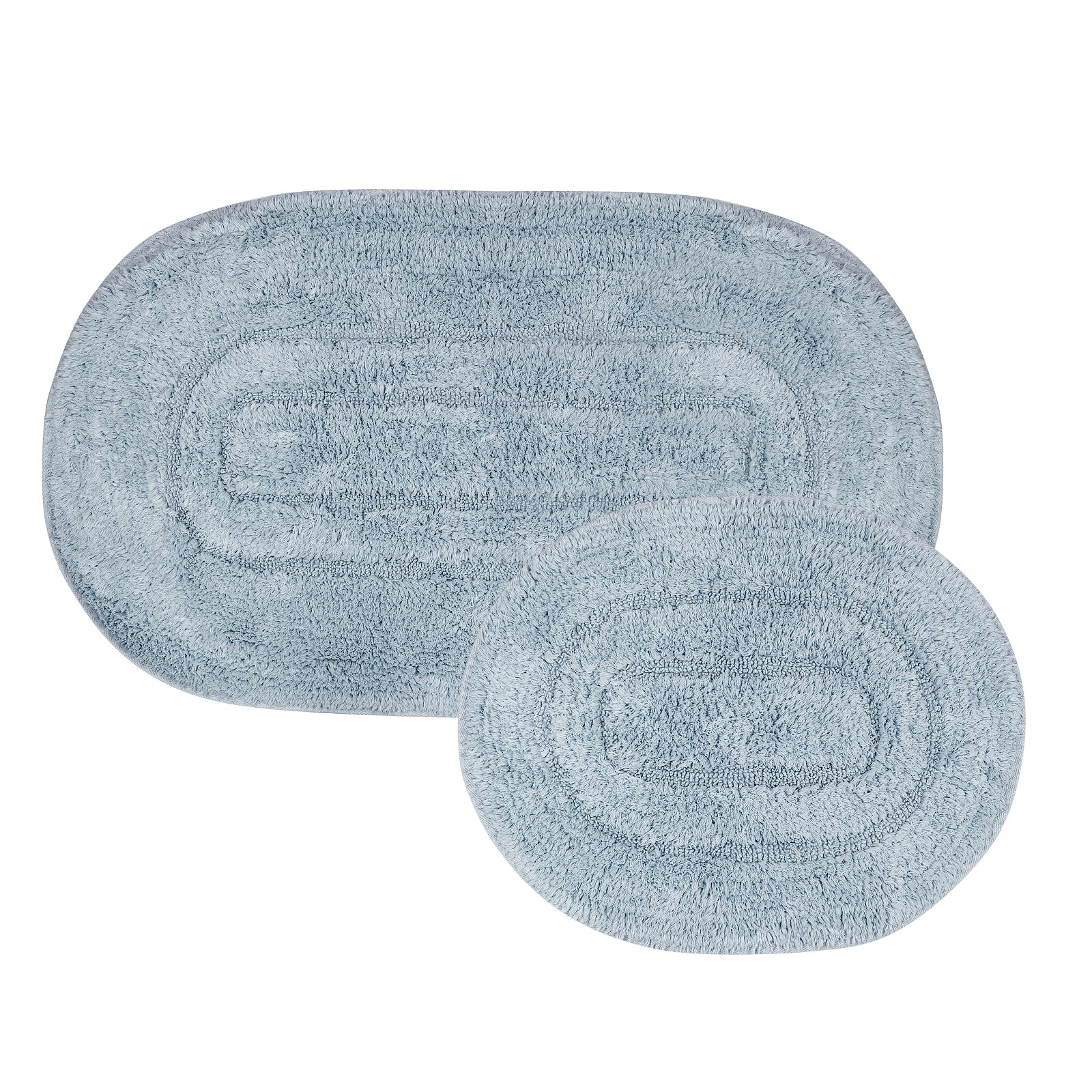 Pre-Order 30 days delivery Milena Blue 2 Piece Bath Mat 200.15.01.0073