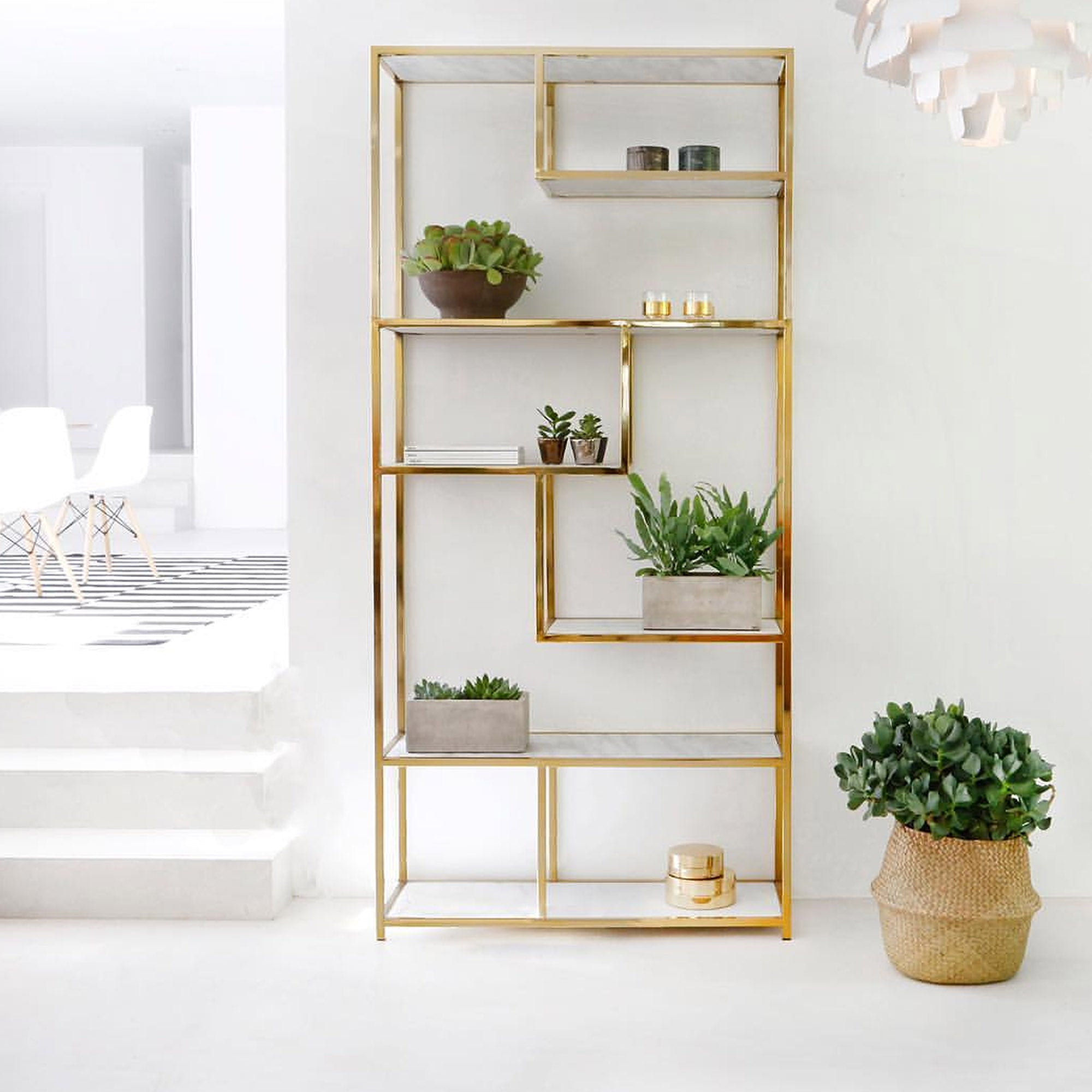 Stainless Bookcase AE001-M-G-TG-336 - ebarza