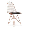 Wire Chair & leather Cushion  BP8021-RG - ebarza