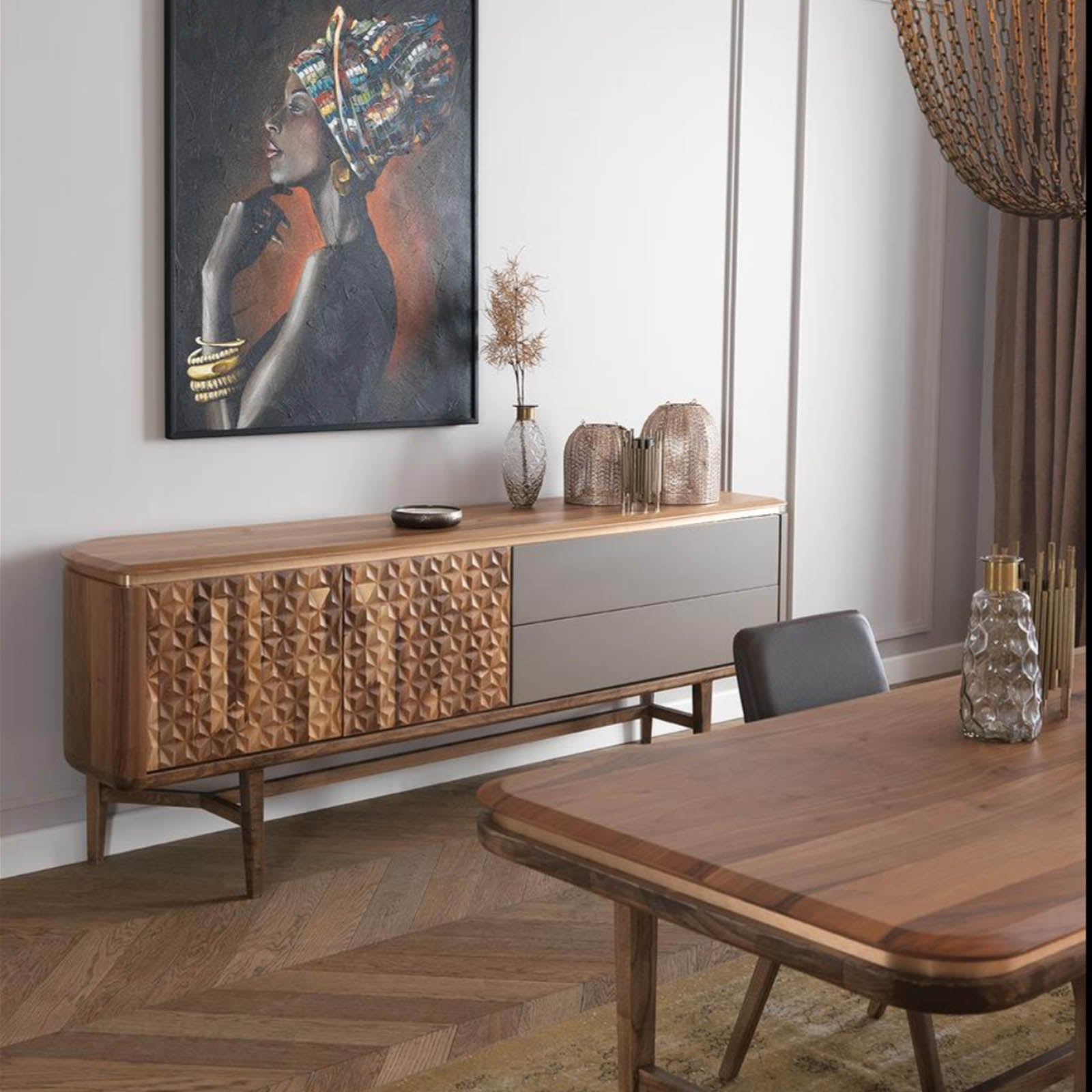 ZEN Sideboard with   ZEN003-Veneer top