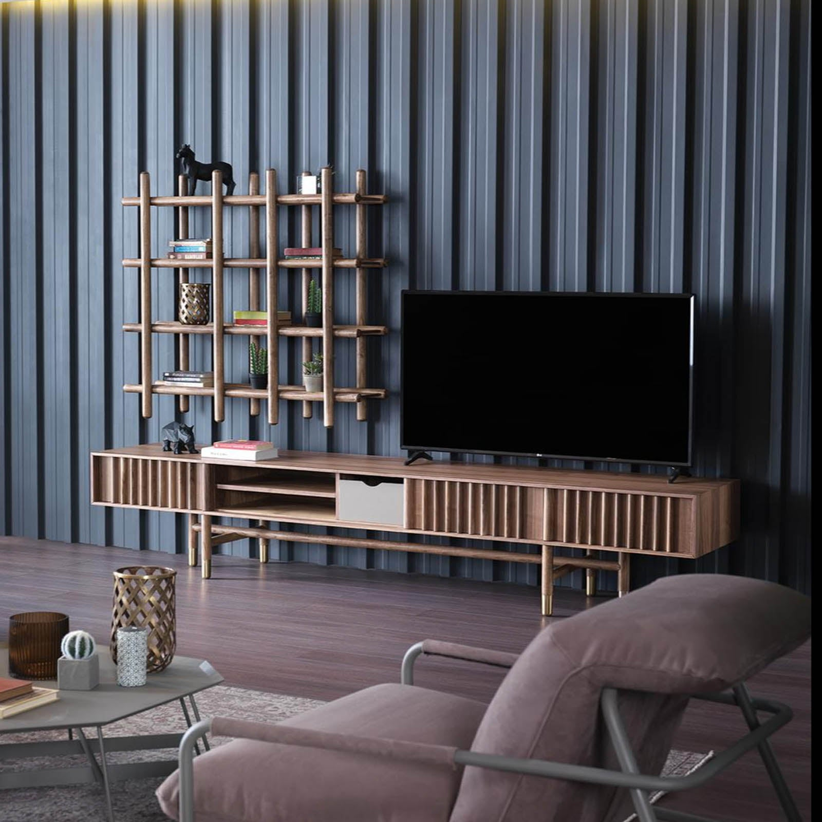 PIETRA TV unit  PIETRATV -  طاوله تلفاز من بيترا - Shop Online Furniture and Home Decor Store in Dubai, UAE at ebarza