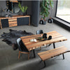 Natura dining table+bench+4  chairs  NAT0088