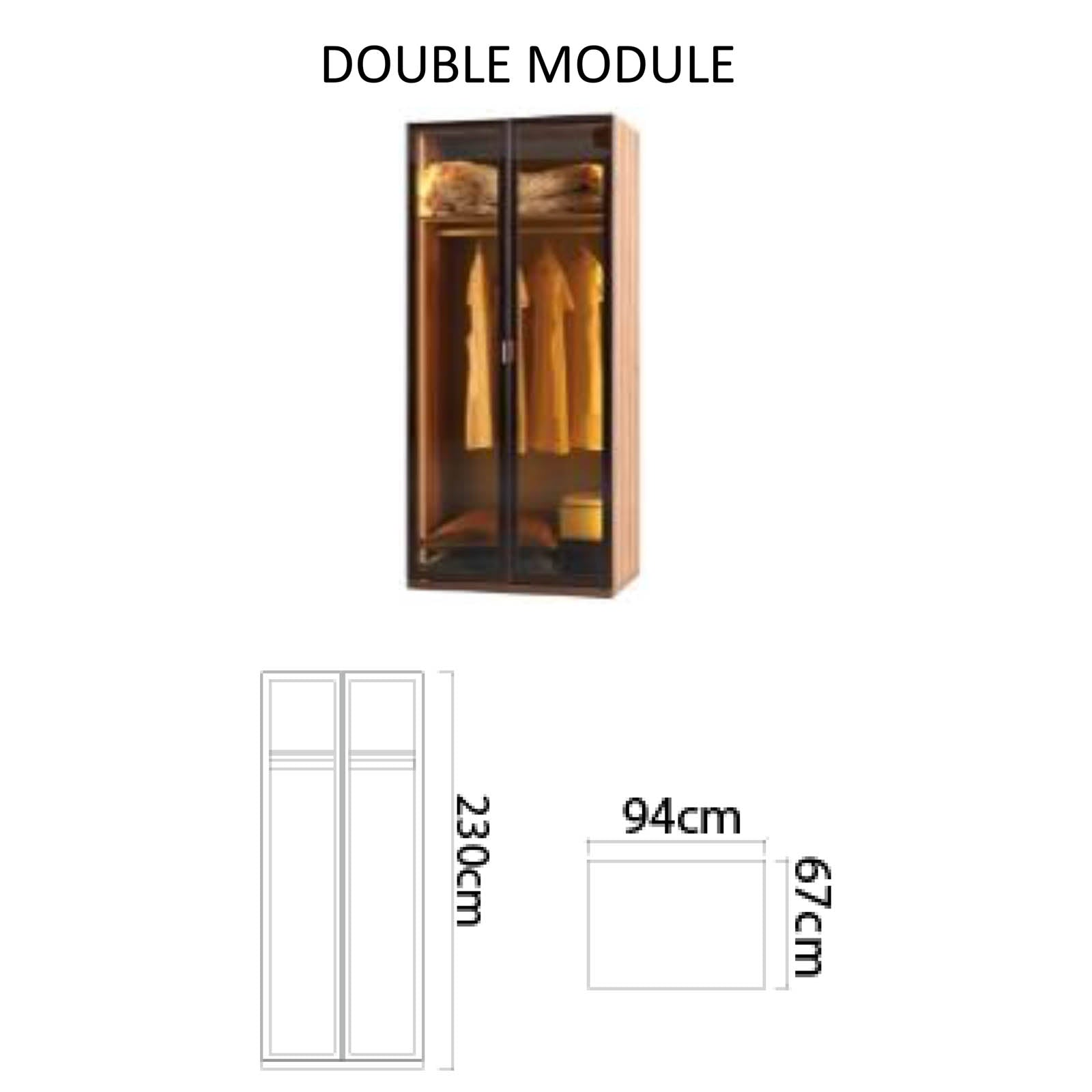 Lego double module cabinet with LED  LEGODouble
