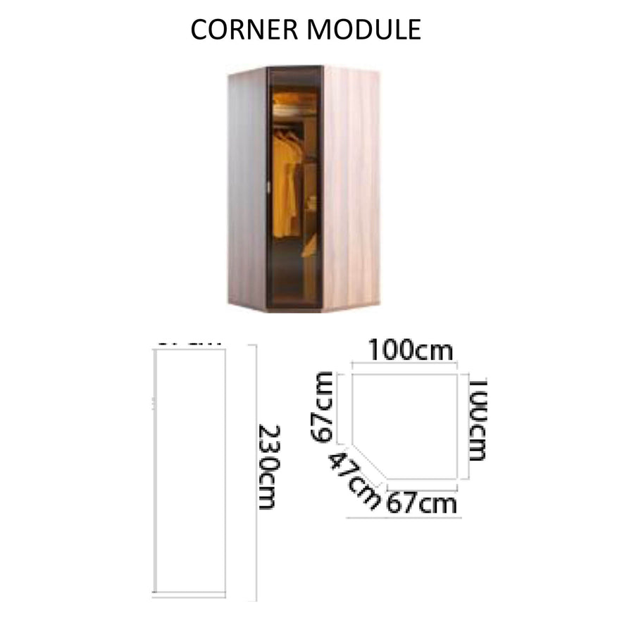 Pre-Order 60 days delivery Leg corner   module cabinet with LED  LEGOcorner