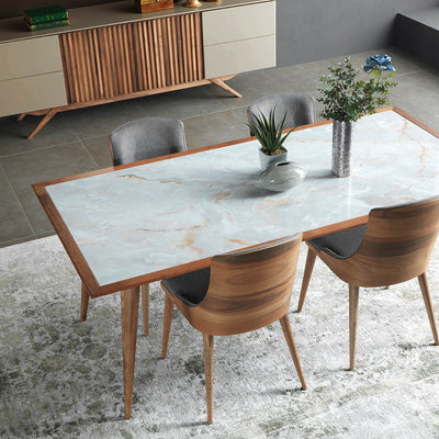 Pre-Order 60 days delivery Santana  Dining table+ 6 chairs
