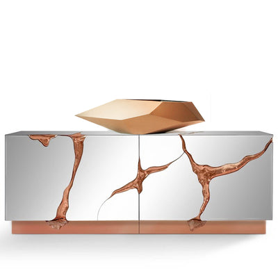 Handcrafted Stainless steel table Artwork  B00111-RG