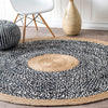 Pre-Order 15 days delivery D 250 CM Braided Round handmade Wool Rug JH-2352-XL