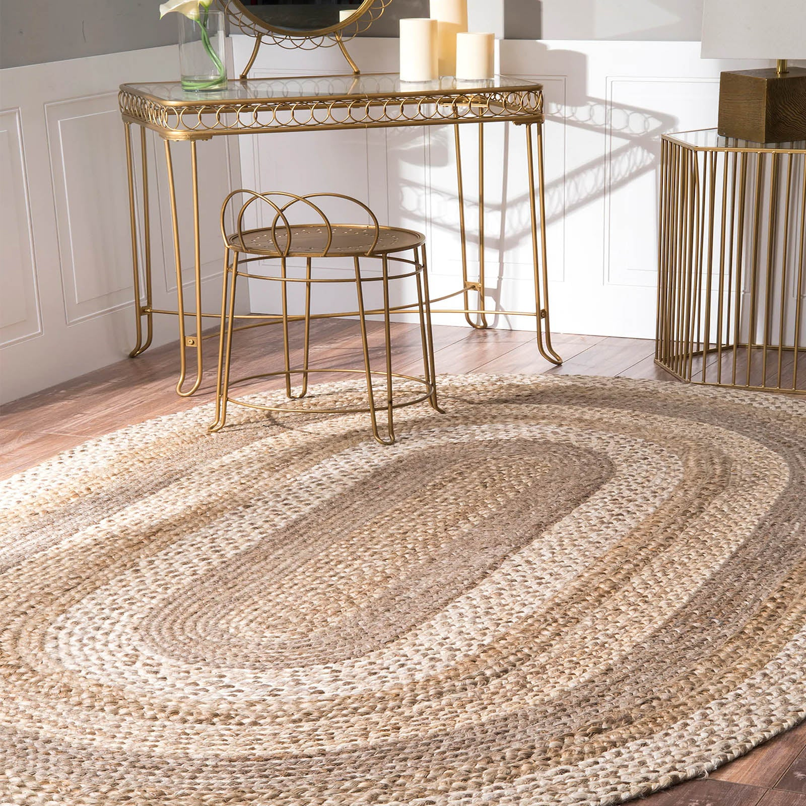 160X220 cm Braided handmade Jute Rug JH-2344-L -  160X220 سم سجادة مصنوعة يدويًا من الجوت - Shop Online Furniture and Home Decor Store in Dubai, UAE at ebarza
