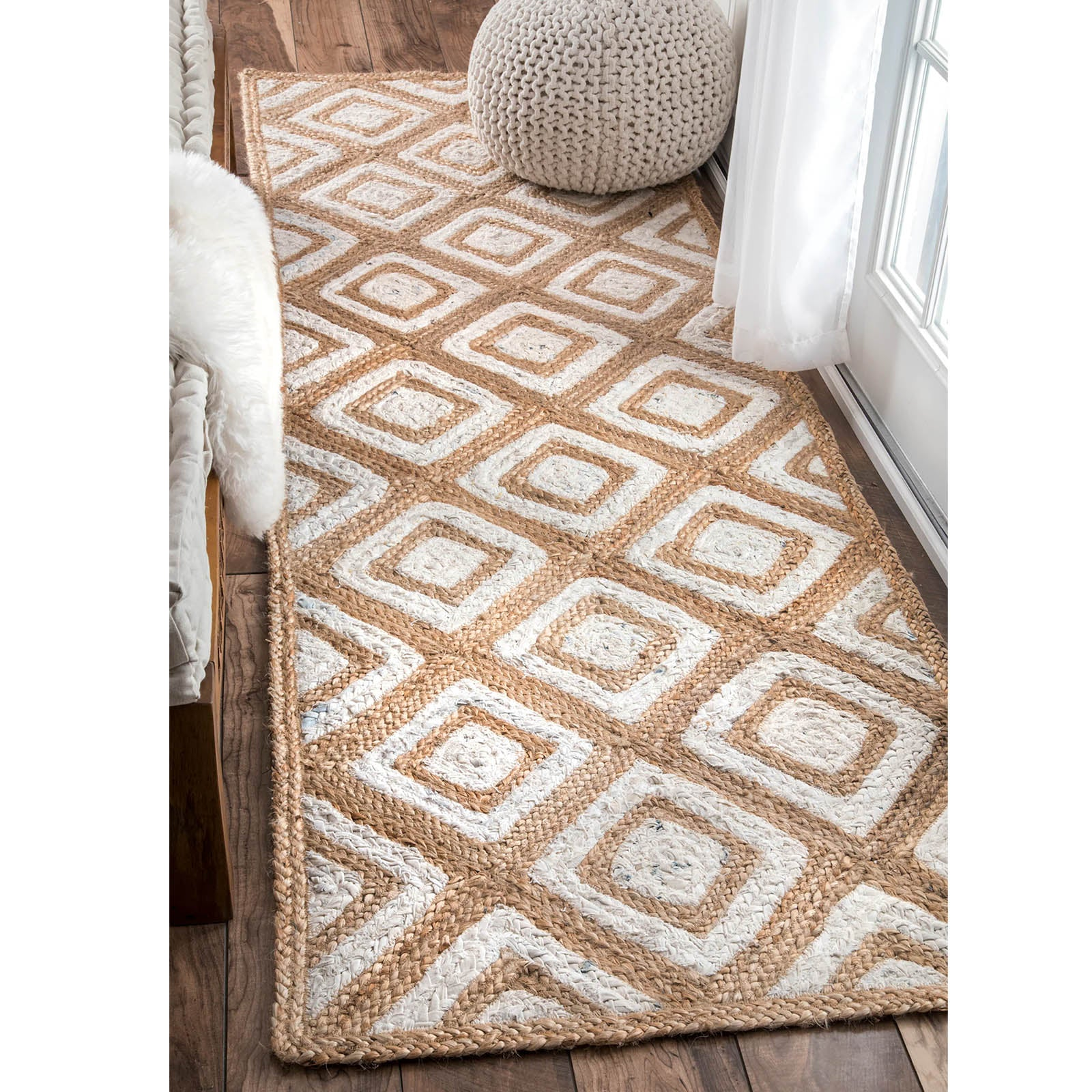 90X300 cm Braided handmade Jute Rug JH-2342-long