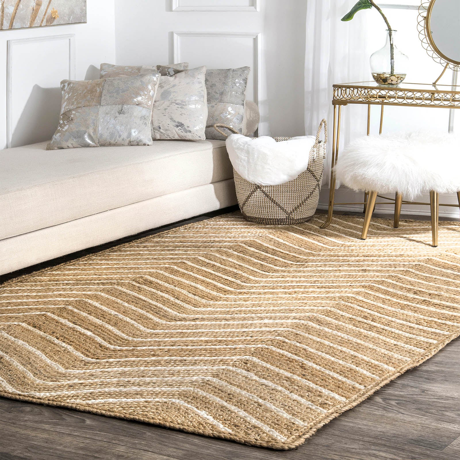 90X300 cm Braided handmade Jute Rug JH-2341-long