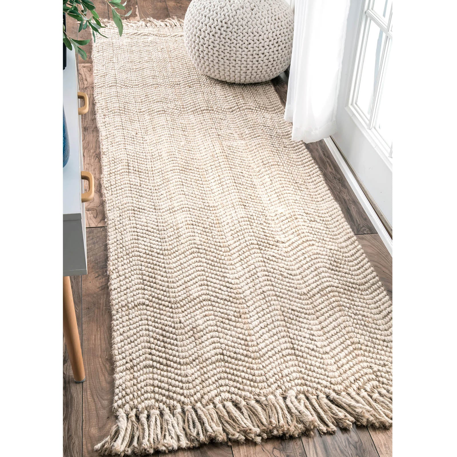90X300 cm Braided handmade Jute Rug JH-2340-long