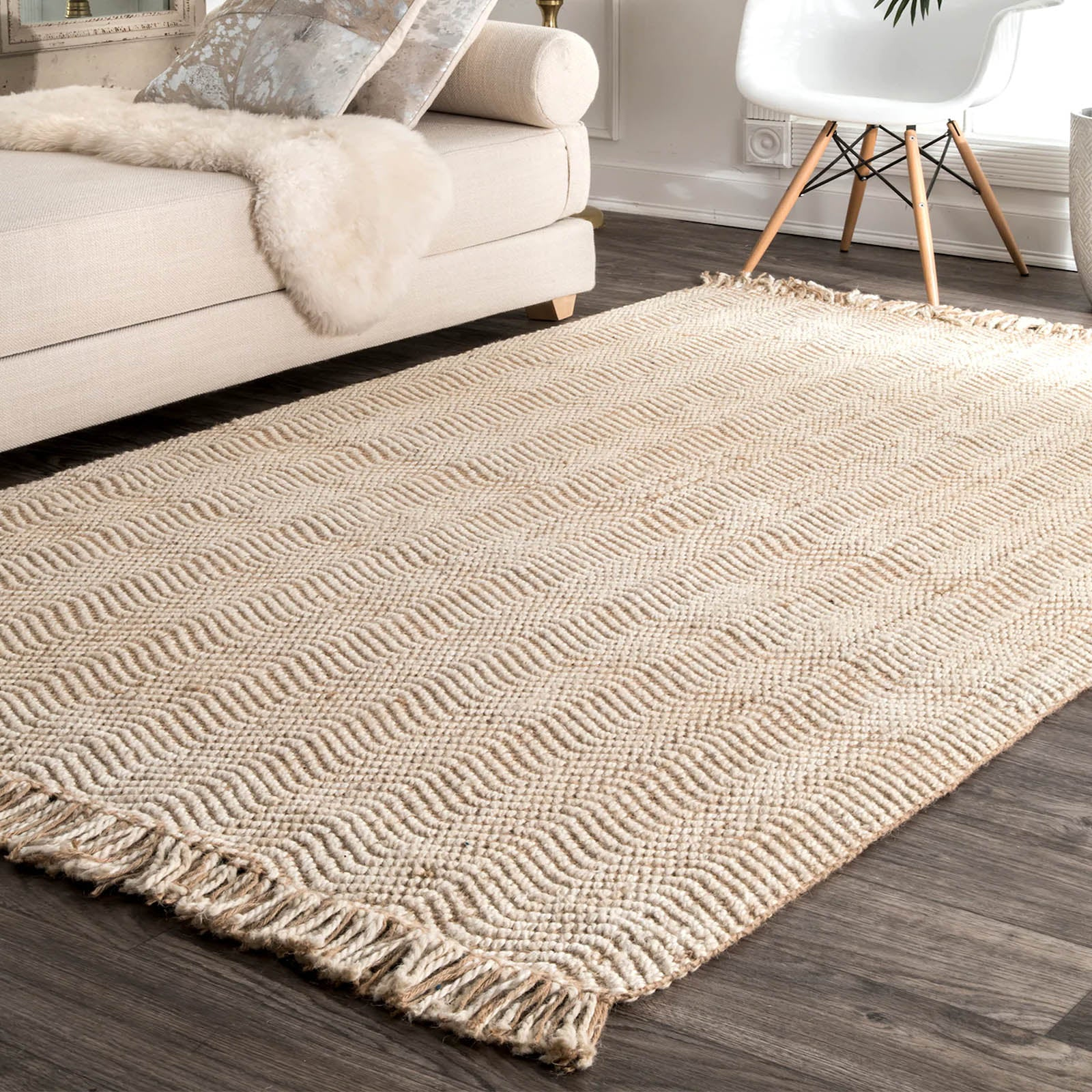 300X200 cm Braided handmade Jute Rug JH-2340-XL -  300X200 سم سجادة من الجوت مضفر يدويًا - Shop Online Furniture and Home Decor Store in Dubai, UAE at ebarza