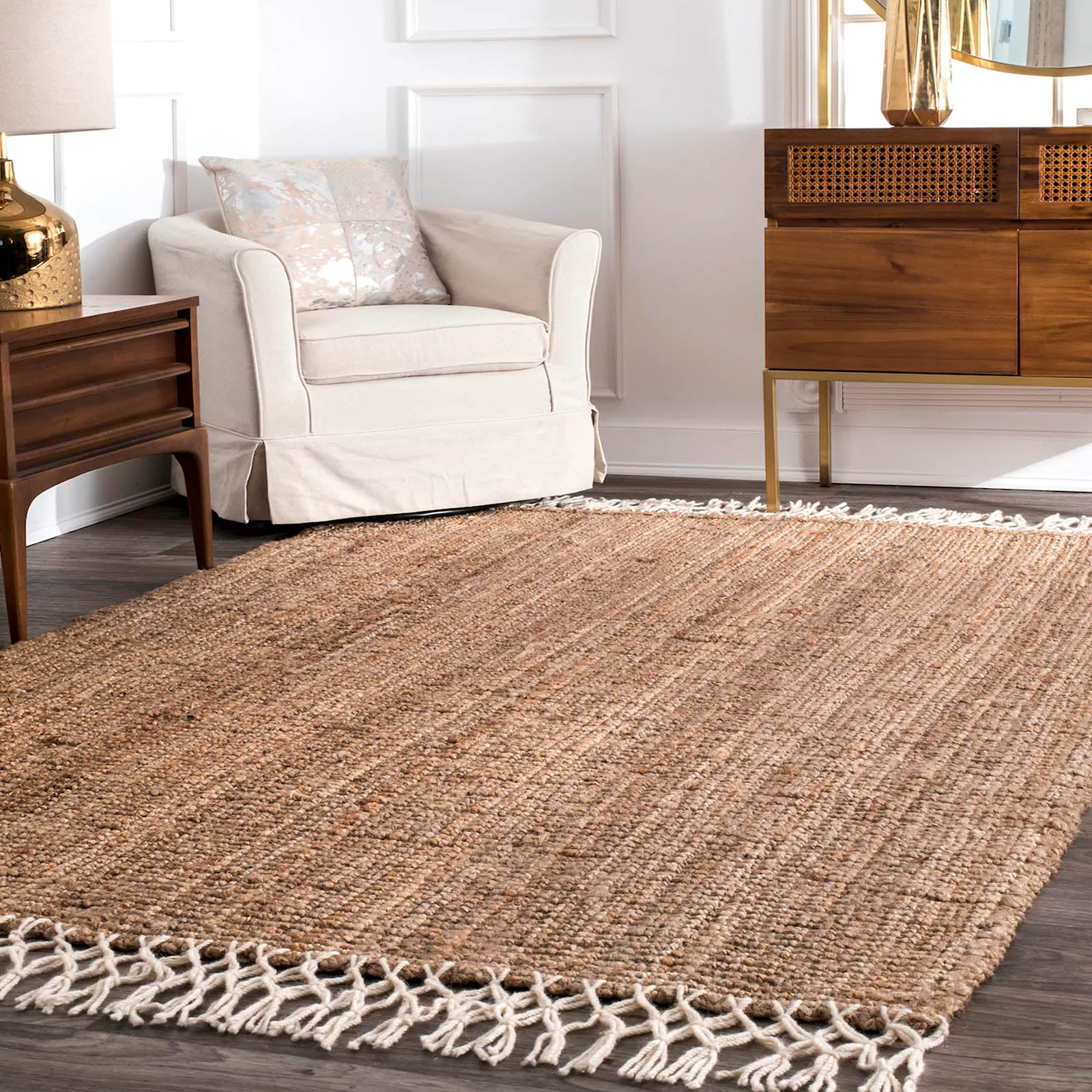300X200 cm Braided handmade Jute Rug JH-2339-XL -  300X200 سم سجادة من الجوت مضفر يدويًا - Shop Online Furniture and Home Decor Store in Dubai, UAE at ebarza