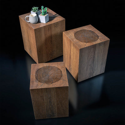 set of 3 DANGER SIDE tables