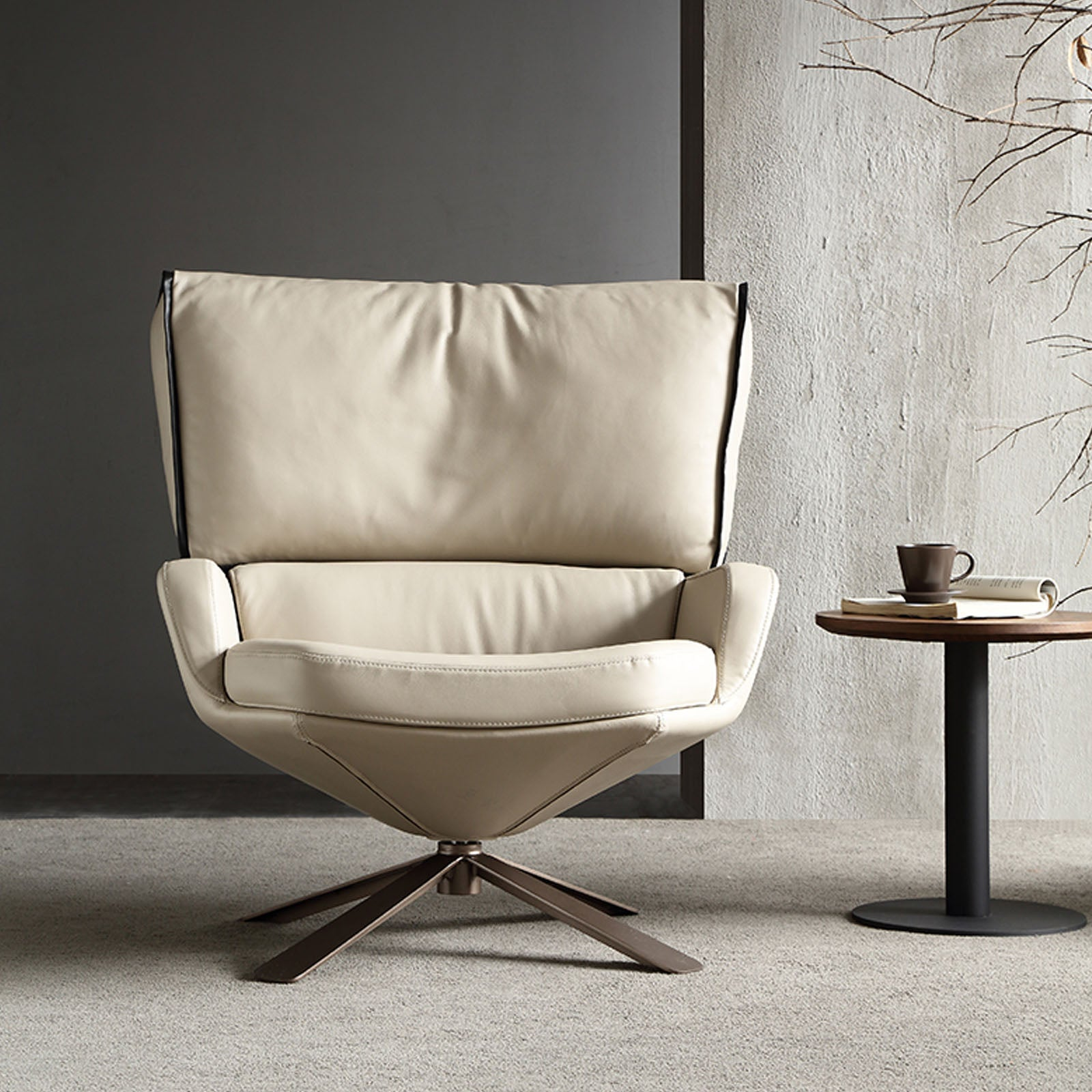 Pre-Order 20 days delivery Varese lounge chair LC043-beige