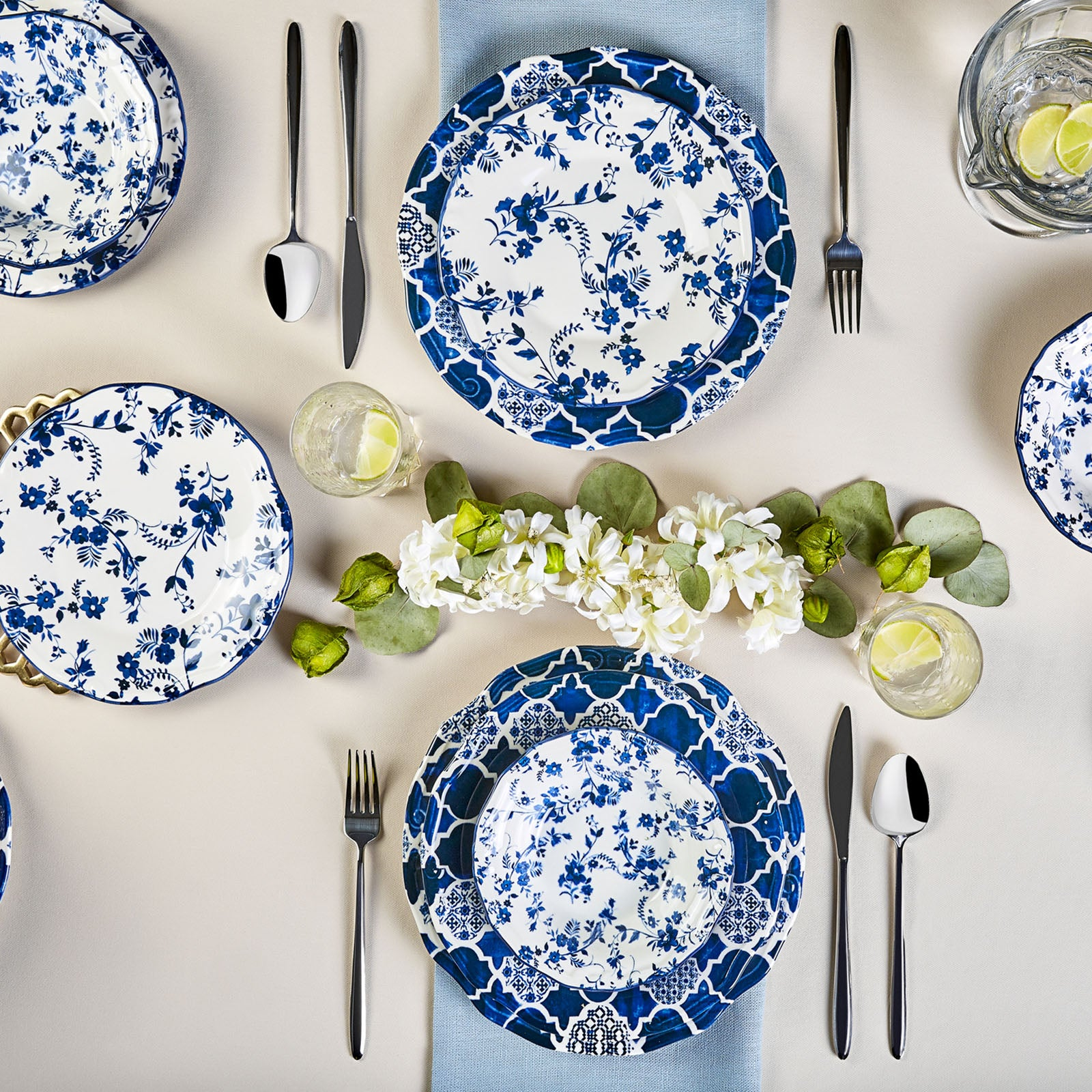Karaca Deep Blue 24-Piece Dinner Set 153.03.06.1395 - ebarza