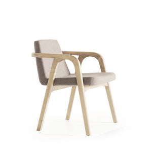 Natura  Solid Ash wood Lounge Chair  NaturaLounge-N-28903 lowarm