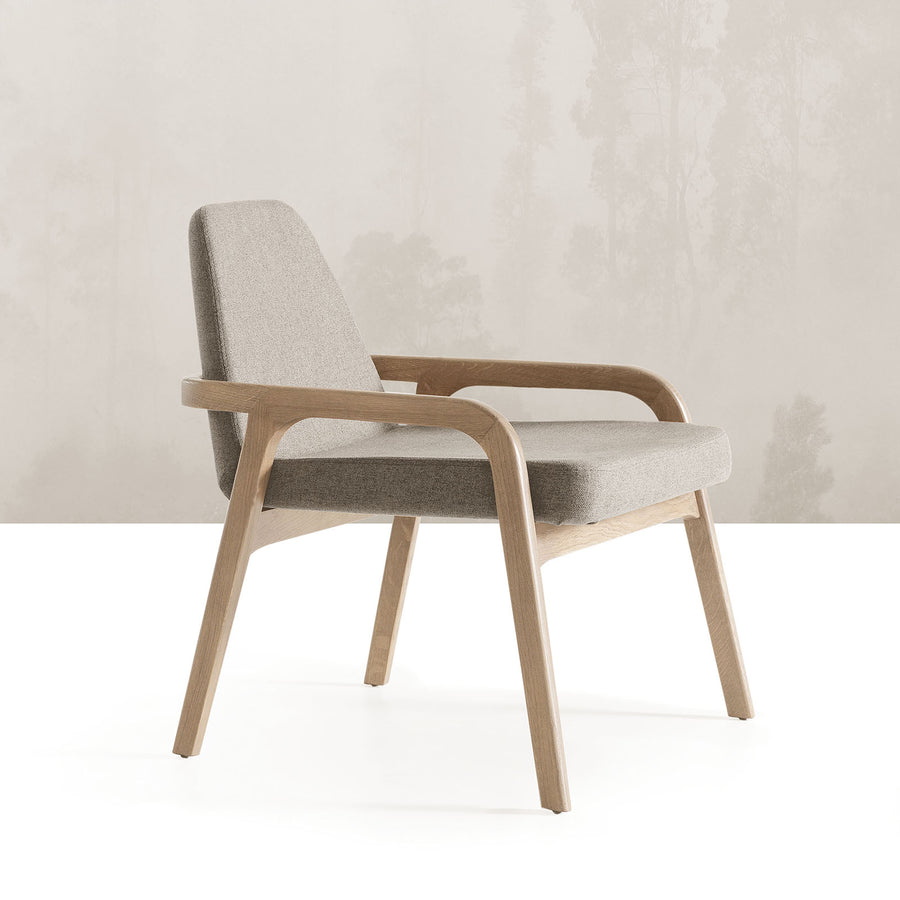 Pre-order 30 days delivery Natura  Solid Ash wood Lounge Chair  NaturaLounge-N-28903