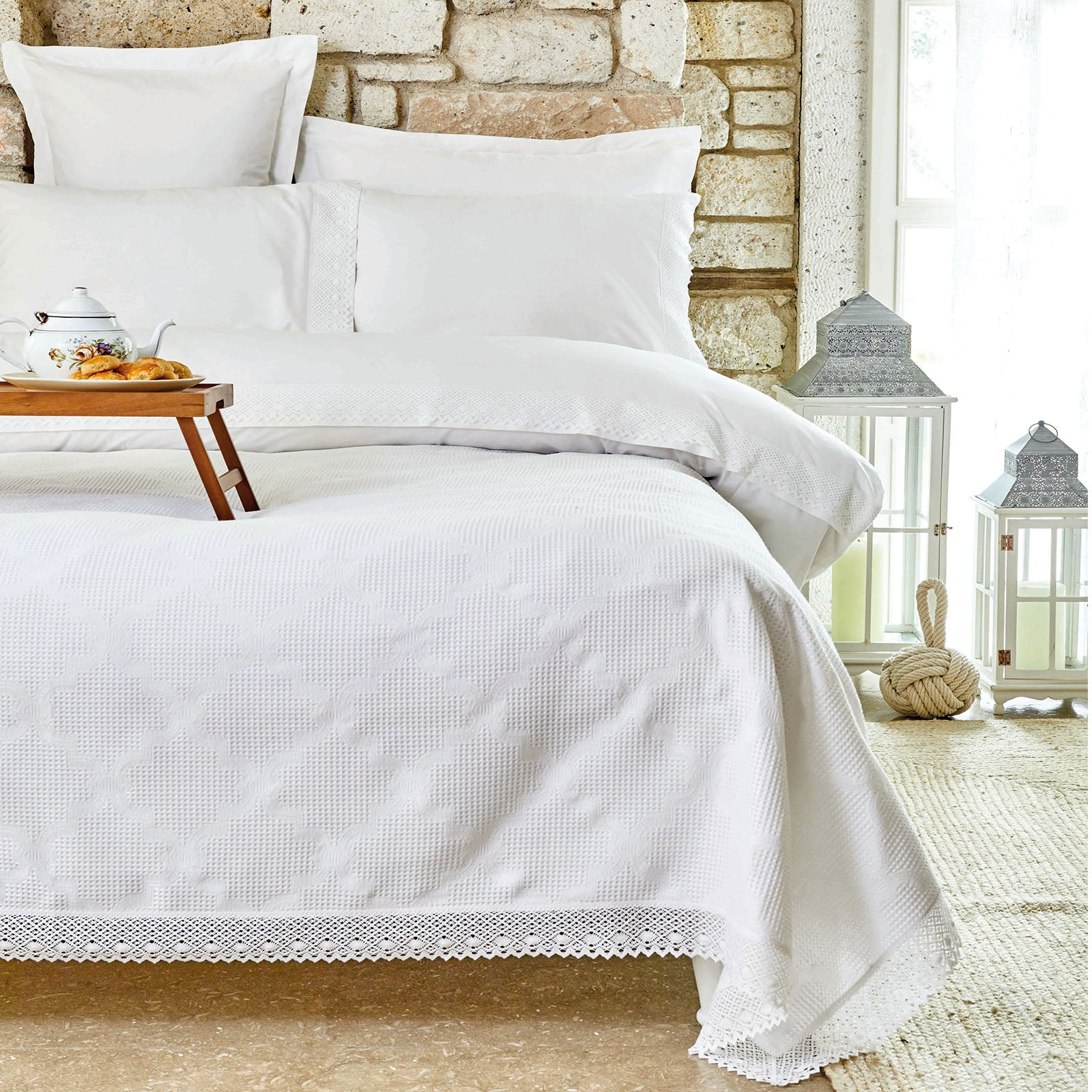 OLIVIA BEYAZ   Bedding  Set 200.16.01.0244