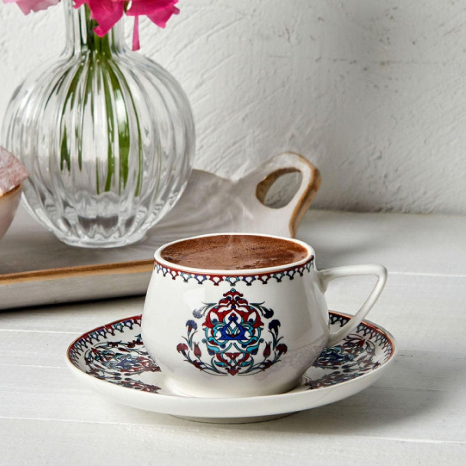Nakkaş Set of 6 Coffee Cups 153.03.07.1749 -  طقم 6 فناجين قهوة نقّاش - Shop Online Furniture and Home Decor Store in Dubai, UAE at ebarza