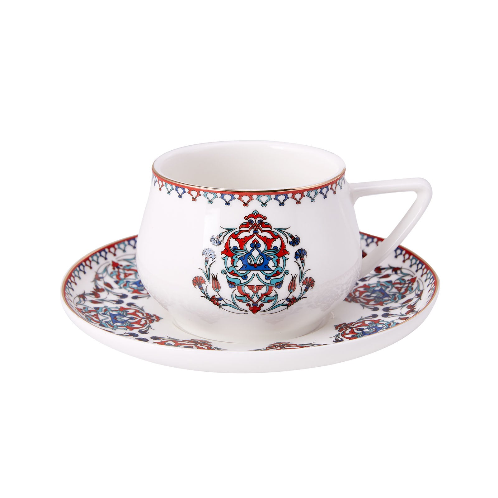 Nakkaş 4-Person Tea Cup Set 153.03.07.5033 -  طقم فناجين شاي 4 أشخاص من نقّاش - Shop Online Furniture and Home Decor Store in Dubai, UAE at ebarza