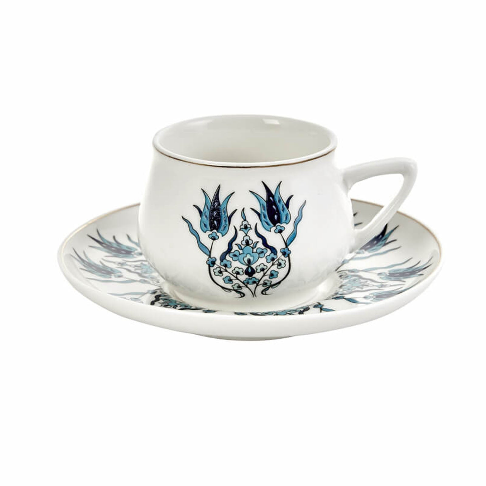 İznik New Form 6 Seater Coffee Cup Set 153.01.01.3803