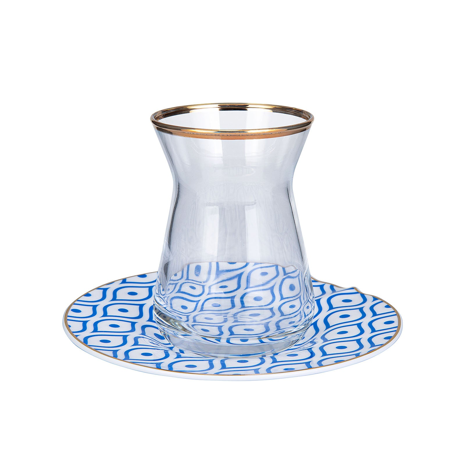 Fine Pearl Eye Blue 12 Piece Pearl Tea Set 153.03.07.7694 - ebarza
