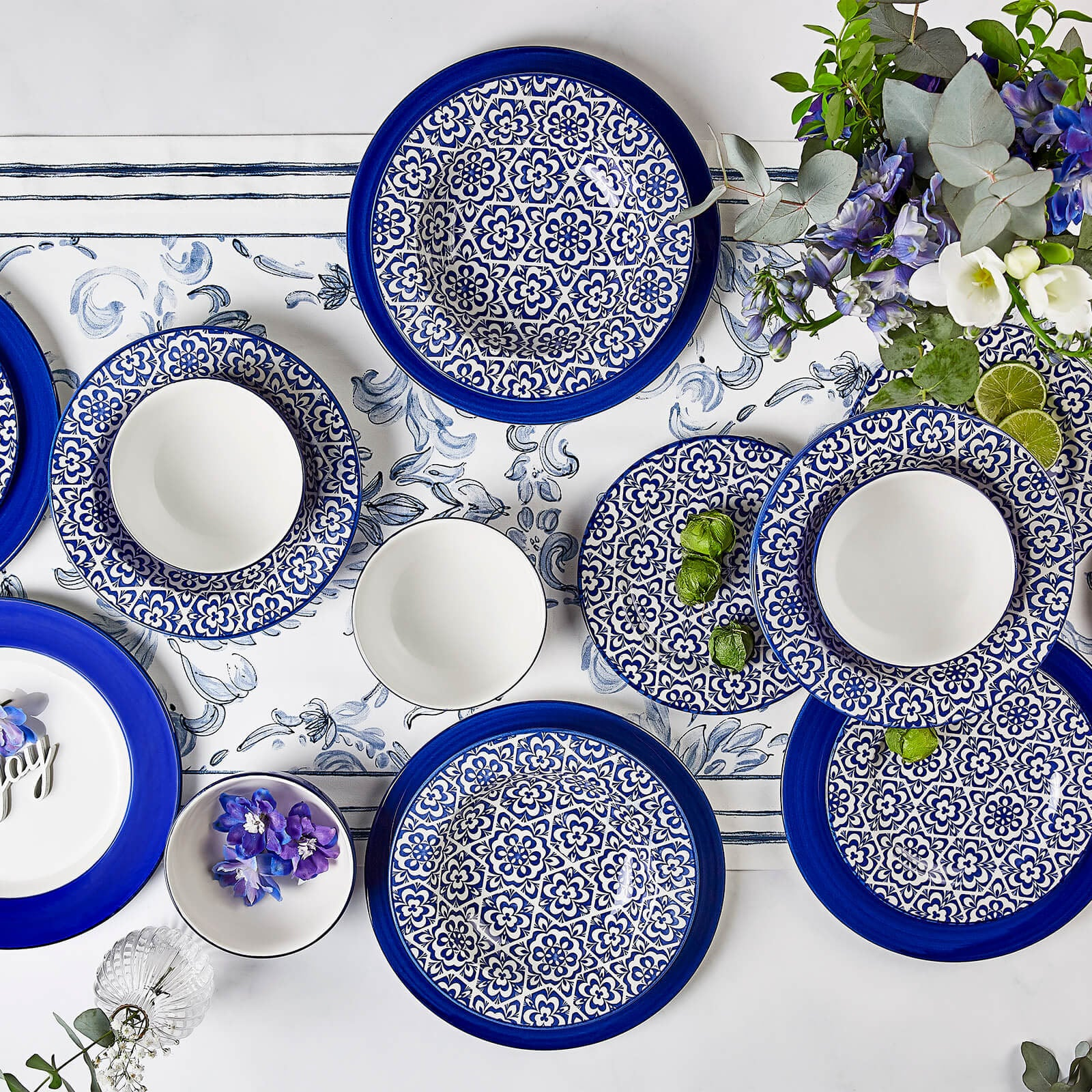 Pre-Order 50 days delivery Karaca Ege 24 Pieces 6 Person Dinner Set 153.03.07.5522