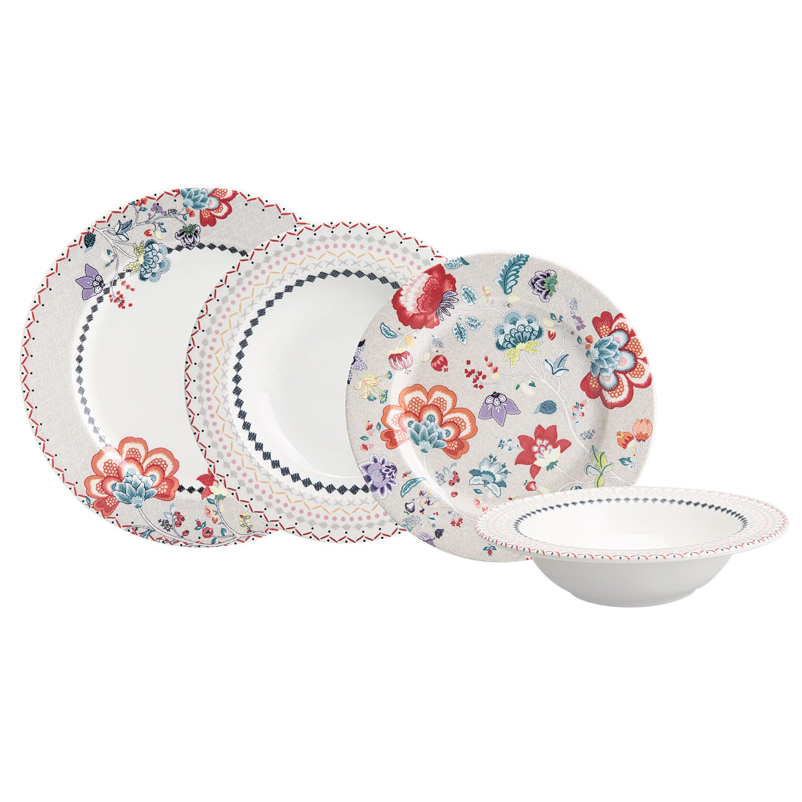Pre-Order 50 days delivery 24 pieces May Flower 6-Person Dinner Set 153.03.07.9969